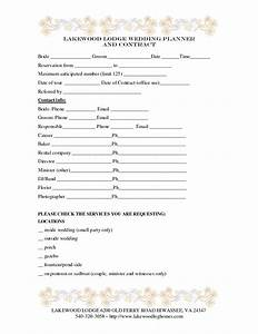 Wedding planner contract template baby shower for Wedding vendor contract template