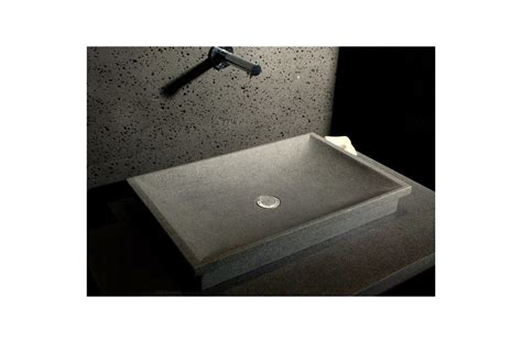 "24"" Gray Granite Stone Bathroom Vessel Sink   DUNE"