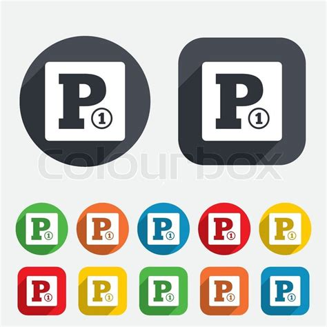 gebuehrenpflichtiger parkplatz schild symbol auto