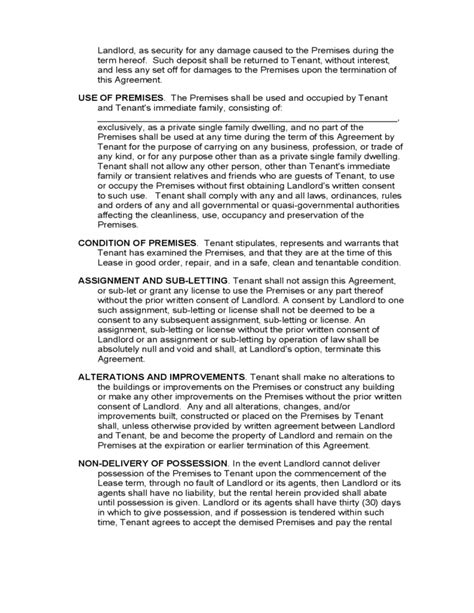 georgia monthly lease agreement