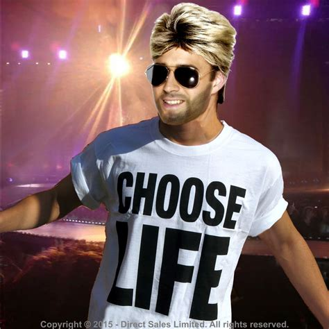 wham outfits george michael 80s wham fancy dress choose life t shirt