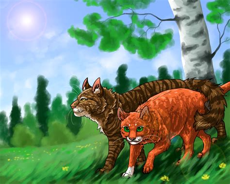 Brambleclaw And Squirrelflight By Din-the-painter On