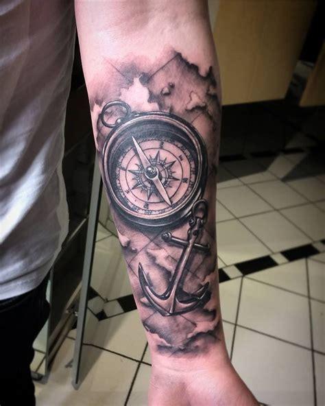 kompass unterarm by dimon duda das wurde in einer sitzung gestochen auf dem unterarm ein kompass mit