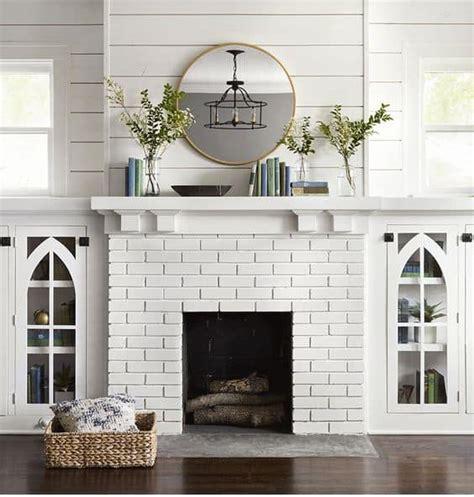 stunning white brick fireplace ideas part