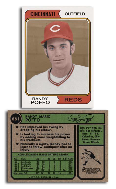 """Macho Man"" Randy Savage's baseball card as an outfielder with the Cincinnati Reds : pics"
