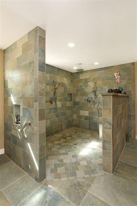 amazing walk  shower design ideas tropical bathroom