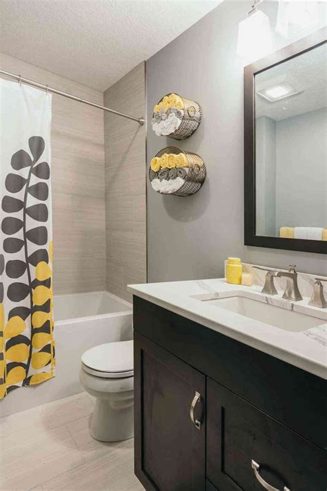 Modern Yellow Bathroom Decor by Best 25 Grey Bathroom Cabinets Ideas On