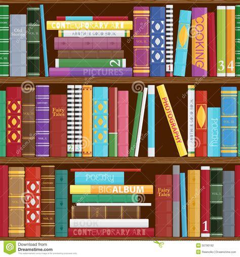 seamless book shelves background stock vector image