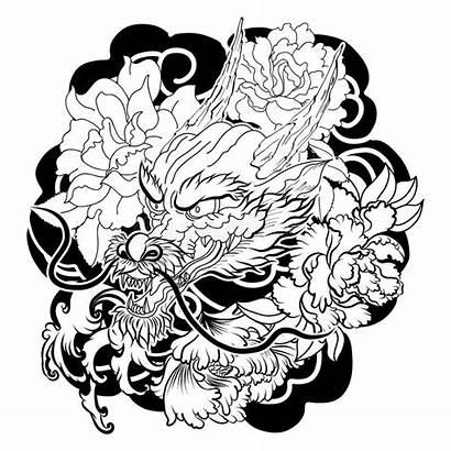 Dragon Japanese Tattoo Japonais Tatouage Japan Stencil