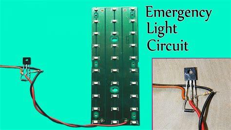 simple automatic emergency led light circuit youtube