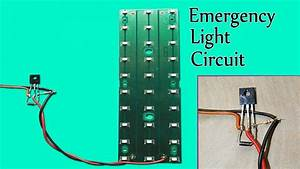 Simple Automatic Emergency Led Light Circuit
