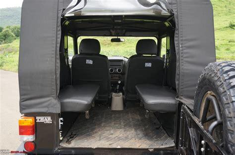 thar jeep interior 2015 mahindra thar facelift a close look team bhp
