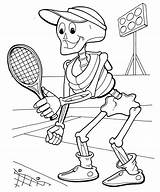 Skeleton Coloring Pages Ping Pong Halloween Tennis Axial Playing Printables Printable Sheet Printing Getcolorings sketch template