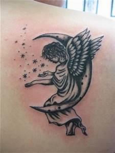 Lune Dessin Tatouage : ange sur la lune izatattoo clinique professionnelle de tatouage ~ Melissatoandfro.com Idées de Décoration