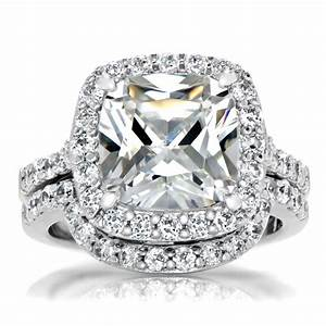 wedding ring set wedding ideas With cushion cut diamond wedding ring sets