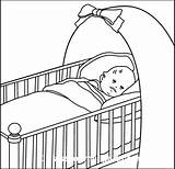 Crib Clipart Baby Drawing Children Cot Clip Outline Cliparts Sleeping Child Graphics Results Getdrawings Library sketch template