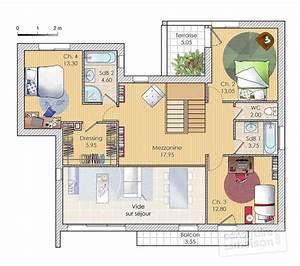 plan maison etage ventana blog With good plan de maison a etage 1 maison familiale 9 detail du plan de maison familiale 9