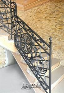 Rambarde Fer Forgé : balustrade terrasse fer forge garde corps balcons en fer ~ Dallasstarsshop.com Idées de Décoration