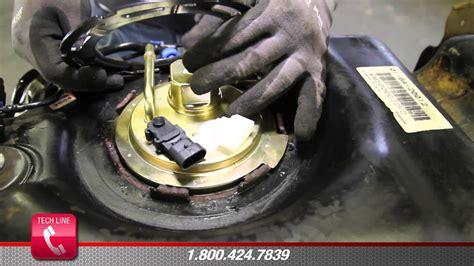 install fuel pump assembly em