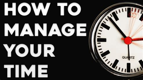 How To Manage Your Time Effectively  Time Management Tips