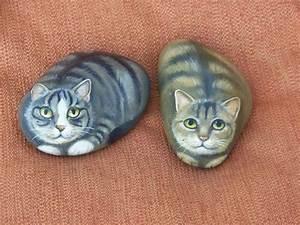 Steine Bemalen Katze : 2785 best images about a painted rocks slate on pinterest stone painting stone art and ~ Watch28wear.com Haus und Dekorationen