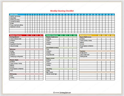 daily office cleaning checklist excel printable receipt