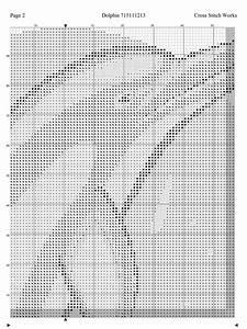 Thread Size Chart Cross Stitch Works Dolphin 715111213 Free Cross Stitch