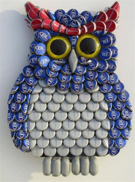 Recycled Bottle Cap Crafts   Upcycle Art