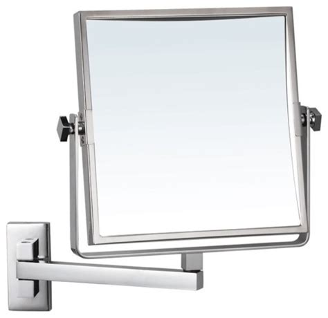 Bathroom Wall Mounted Mirrors by Square Wall Mounted 3x Makeup Mirror Contemporary