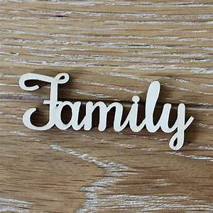 24pcs 100x40mm wooden family word letters alphabet script With family wood letters