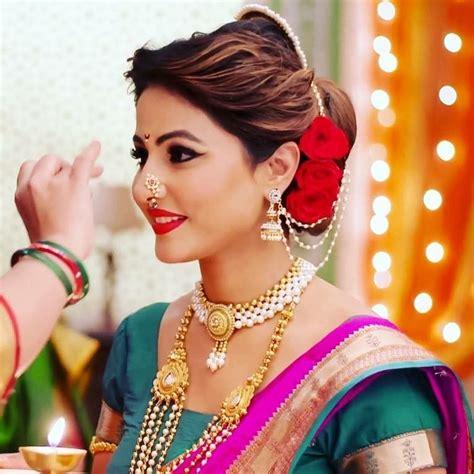 hina khan maharashtrian makeup  mugeek vidalondon