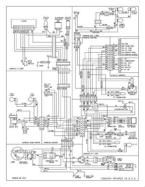 wiring information diagram parts list for model