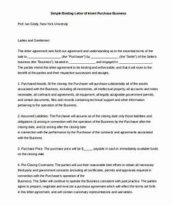 simple letter of intent 11 free word pdf documents With letter of intent to buy a business template