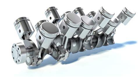 engine pistons  stock illustration illustration