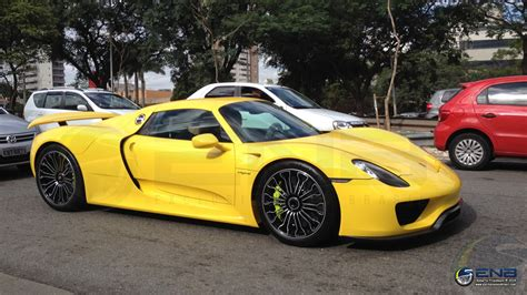 Bright Yellow Porsche 918 Spyder Arrives In Brazil Gtspirit