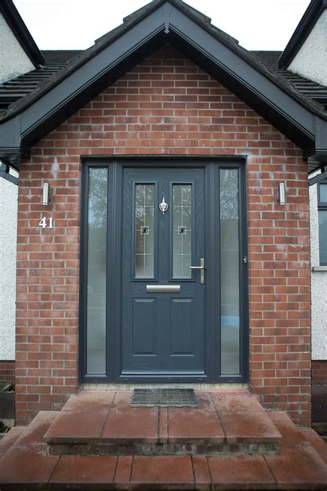 Front Door Porch by Virtuoso Composite Door In Anthracite Grey Colour