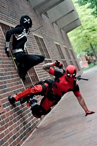 Deadpool and Spider-Man Cosplay