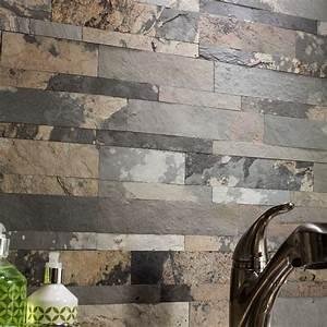 Natural Stone Backsplash Tile — Cabinet Hardware Room