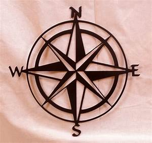Large in compass rose metal wall art by bcmetalcraft on etsy