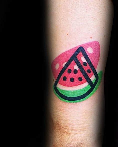 watermelon tattoo designs  men fruit ink ideas