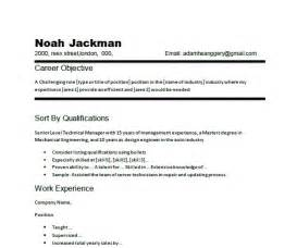 Resume Career Objective Example Chronological Resume Of