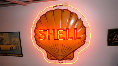 Plus you can track every transaction of every journey, so you can get the best performance from your fleet. 1947 Shell Oil single-sided neon porcelain clamshell shaped s - 179873