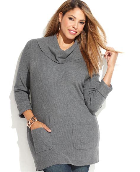 plus size sweaters inc international concepts plus size patch pocket cowl