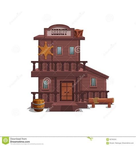 sheriff house  western town  game level