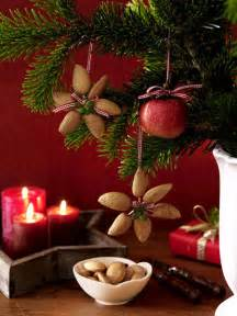 diy christmas star flower shaped ornaments made from nuts diy holiday ideas pinterest diy