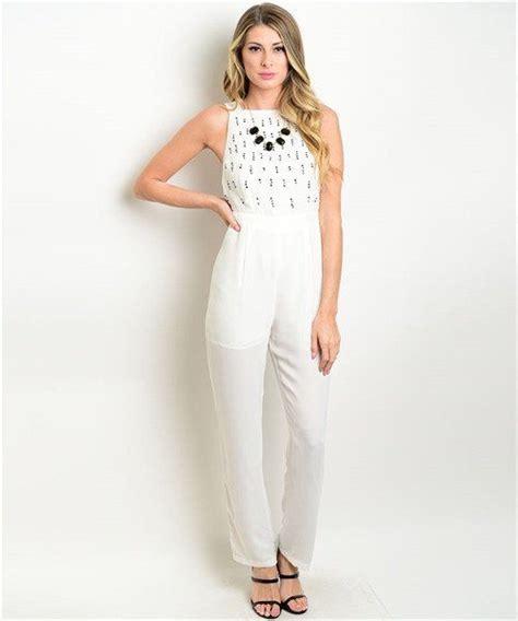 white elegant jumpsuit breeze clothing