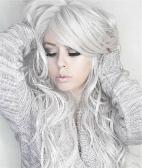 75 Best White Silver Lavender Hair Images On Pinterest