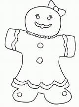Gingerbread Coloring Boy Printable Popular Getcolorings Coloringhome sketch template