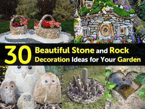 beautiful stone  rock decoration ideas   garden