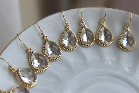 15% Off Set Of 7 Wedding Jewelry Bridesmaid Earrings